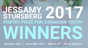 MEET THE POETS: 2017 JESSAMY STURSBERG POETRY PRIZE