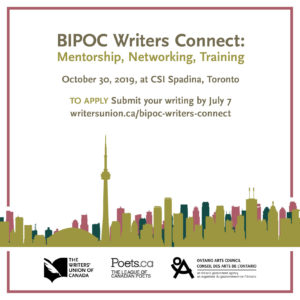BIPOC Writers Connect: Mentorship, Networking, Training