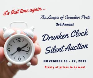 Drunken Clock Silent Auction, November 18-22